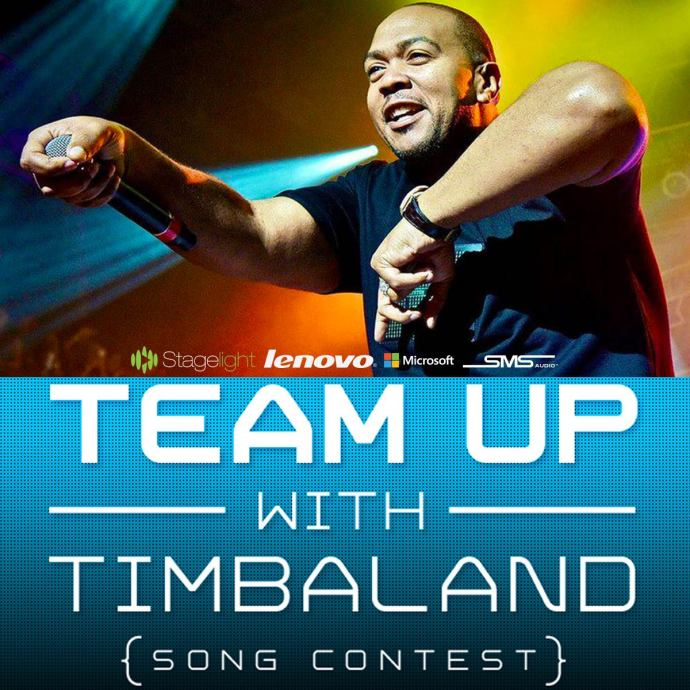 #TeamUp with Timbaland logo for Open Labs